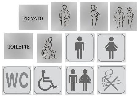 Pictogrammes Plaques de toilettes publiques