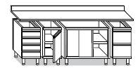Tavoli componibili linea LAGI