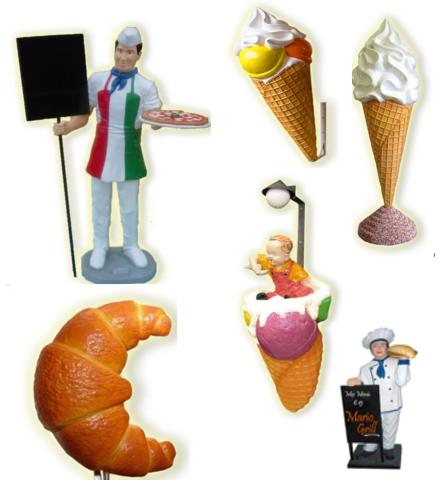 Pupazzi e figure tridimensionali per locali pubblici