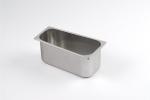 TRAP120 Vaschetta gelato trapezoidale in acciaio inox dim. 360x186x144 h120 mm