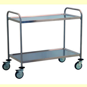 TEC1106 - Stainless steel trolley with 2 shelves printed