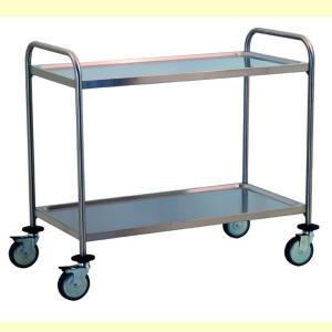 TEC1106 - chariot en acier inoxydable avec deux imprimés Ripani