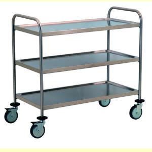 TEC1107 Carrello tecnico acciaio inox AISI 304 3 piani smontabile 100x50x95h