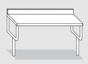 42000.10 Tavolo sbalzo su gambe cm 100x60x90h