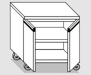 46700.08 Tavolo armadio agi 2 p/battenti ruote cm 80x70x84h