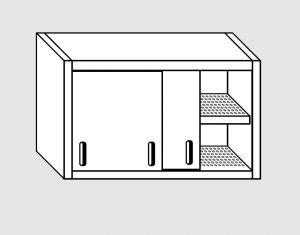 62002.19 Pensile porte scorrevoli 1 ripiano sgocciolatoio cm 190x40x60h