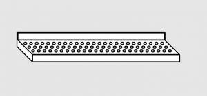 63901.07 Ripiano a parete forato cm 70x38x4h