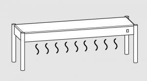 64001.19 Ripiano di appoggio tavoli 1 ripiano caldo cm 190x35x40h