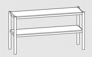 64100.13 Ripiano di appoggio tavoli 2 ripiani cm 130x35x70h