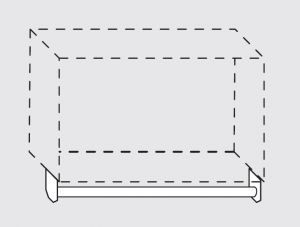 66020.11 Portamestoli per pensili senza ganci da cm 110x1.6