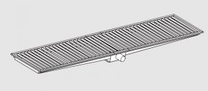 85021.28 Piletta sifonata a pavimento da cm 280x30x12h con filtro e scarico orizzontale frontale