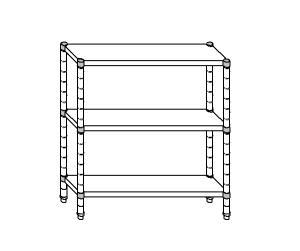 SC8074 estante de acero aluminizado 130x40x160 cm