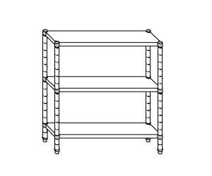 SC8087 estante de acero aluminizado 120x50x160 cm