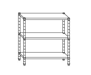 SC8088 shelf aluminized steel 130x50x160 cm