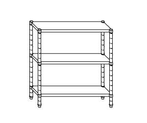 SC8096 shelf aluminized steel 70x60x160 cm