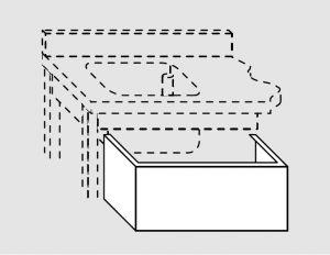 G2026.13 Pannello copri vasca per piano prof 60 da cm 130x60x24h