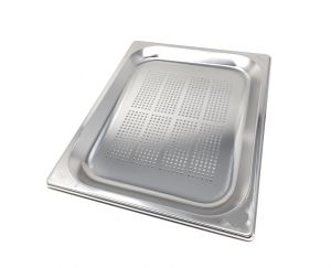 GST1/2P020F Contenitore Gastronorm 1/2 h20 forato in acciaio inox AISI 304