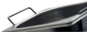 GST1/4P150M Contenitore Gastronorm 1/4 h150 con maniglie in acciaio inox AISI 304