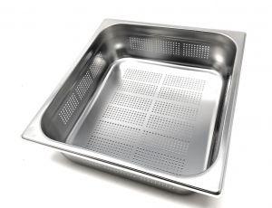 GST2/3P100F Contenitore Gastronorm 2/3 h100 forato in acciaio inox AISI 304
