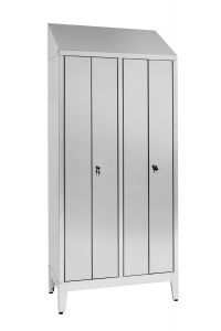IN-694.08.430 Dressing Cabinet In Stainless Steel Aisi 430 A 2 Seats With 4 Doors Cm. 95X40X215H