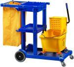 TCA 1606E Chariot de nettoyage panier 2 chariots en un