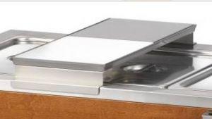 A600 Sliding-plate holder with polyethylene chopping board