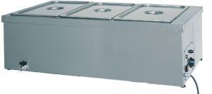 TBM 1784 Mesa caliente baño maria de acero inoxidable 1x1/1GN grifo 110x60x32h