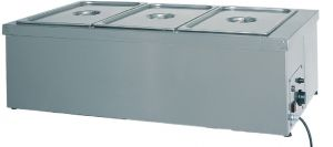 TBMS 1781 Mesa caliente de acero inoxidable resistencia seca 1x1/1GN 49x60x32h