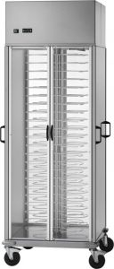 CA1439R Carrello portapiatti refrigerato +8°+12°C capacità 88 piatti Ø18/23