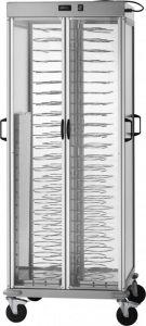 CA1440AC Carrello portapiatti riscaldato +30+90°C capacità 88 piatti Ø18/23