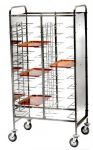 TCA 1465PI Stainless steel universal tray-holder trolley 20 trays Side panels