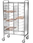 TCA 1475P Stainless steel universal tray-holder trolley 30 trays White Side panels