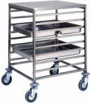 TCA 1477 Stainless steel GN pan trolley 8 GN2/1 16 GN1/1