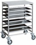 TCA 1483 Stainless steel Tray rack trolley for bakeries 8 board 60x40
