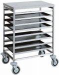 TCA 1493 Tray rack trolley for bakeries trays 80x60 16 trays 60x40