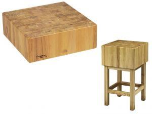 CCL1755 Bloque de madera de 17 cm con taburete 50x50x90h