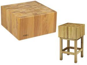 CCL2564 Bloque de madera de 25 cm con taburete 60x40x90h