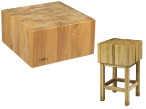CCL2574 Bloque de madera de 25 cm con taburete 70x40x90h