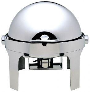 CD6504 Chafing dish tondo acciaio inox brillante Roll top 180°