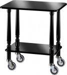 TCL 903N Gueridon Cart Black polish varnished 70x50x78h