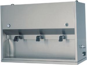 DC1704 Distributore colazioni da appoggio inox 2 recipienti 15 litri 75x41x71h