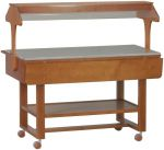 TELN 2835W Neutral Wengé wooden display case buffet
