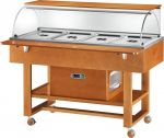 TELR 2826BT Carro refrigerado madera (-5°+5°C) 4x1/1GN cupula/estante