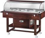 TELR 2826BTW Carro refrigerado madera (-5°+5°C) 4 1/1GN cupula/estante Wengé