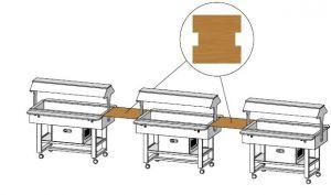 MLUNW Mensola legno quadrata Wengé 68x70