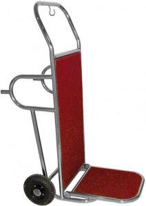 PV2002I  Carro porta maletas en acero inoxidable 2 ruedas y pies de apoyo
