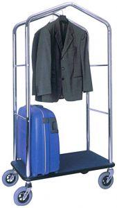PV4056 Carrello portavaligie e portabiti cromato