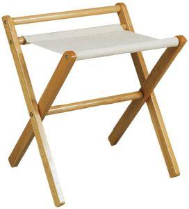 RE4017 Soporte para maletas de madera nogal con riel Toalla de algodón