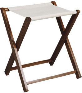 RE4018 Soporte para maletas de madera haya Toalla de algodón