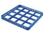 TRIA16 Elévation 16 compartiments pour panier lave-vaisselle 50x50 h4,5 bleue